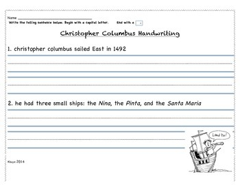 Christopher Columbus Handwriting