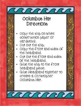 Christopher Columbus, Hat Craft, Fall Craft