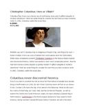 Christopher Columbus Hero or Villain?