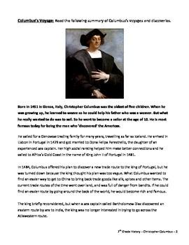 Christopher Columbus - Hero or Villan Assignment