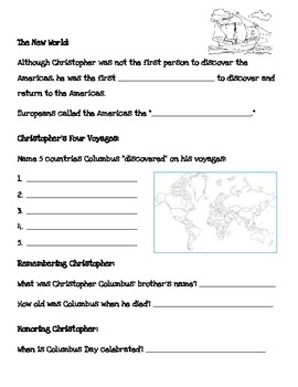Christopher Columbus Internet Scavenger Hunt by 2nd to None Teaching ...
