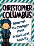 Christopher Columbus Internet Scavenger Hunt WebQuest Activity