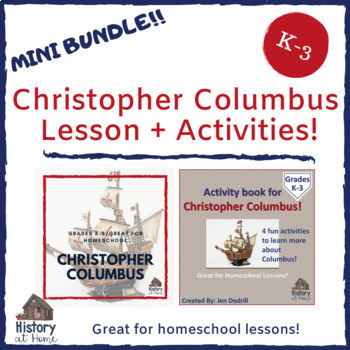 Christopher Columbus Lesson PLUS Activity Book Pair Pack for K-3