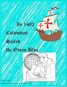 Christopher Columbus Literacy and math activities