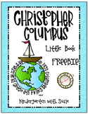 Christopher Columbus Little Book Freebie