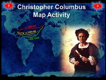 Christopher Columbus Mapping Activity: engaging 33-slide P