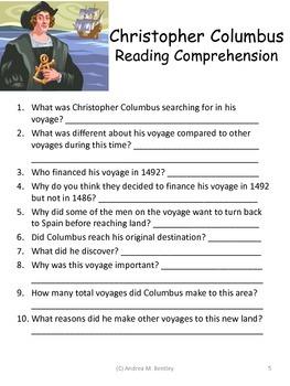 Christopher Columbus {Math, Literacy, and Writing Mini-Unit}