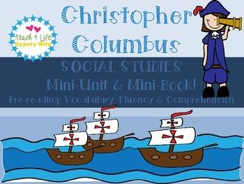 Christopher Columbus Mini-Book, Fluency, Commprehension an