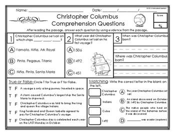 Christopher Columbus Mini-Lesson & Foldable