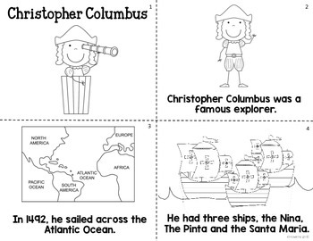 Christopher Columbus Mini-book and Worksheet