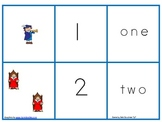 Christopher Columbus Number, Set, Number Word Match Activity