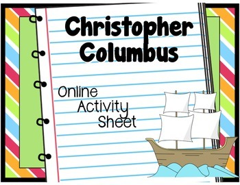 Christopher Columbus: Online Activity Worksheet