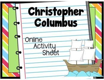 Christopher Columbus: Online Activity Worksheet