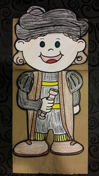 Christopher Columbus Paper Bag Puppet