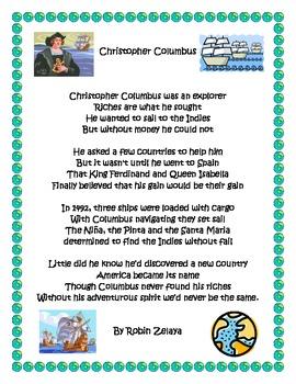 Christopher Columbus Poem
