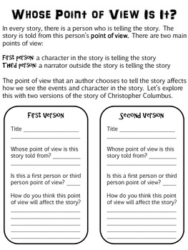Christopher Columbus Point of View Lesson