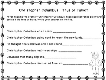 Christopher Columbus-Printable Book and Activity Sheets