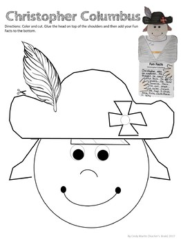 Christopher Columbus Printables Writing Craftivity
