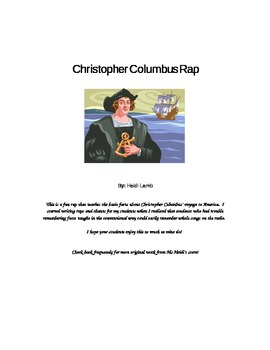 Christopher Columbus Rap