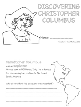 Christopher Columbus Read and Respond Activity Booklet