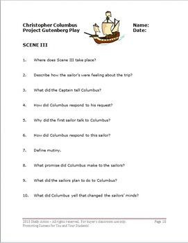 Readers Theater Scripts Christopher Columbus Activities FICTION