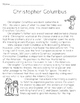 Christopher Columbus Reading Comprehension Passage Middle School