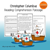 Christopher Columbus  Reading Comprehension Passage for Grades 1-3, Homeschool
