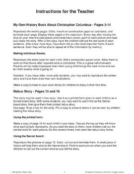 Christopher Columbus Rebus Story