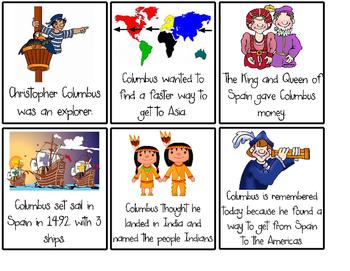 Christopher Columbus Retell Cards