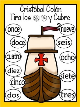 Christopher Columbus Roll and Cover Games {FREE}