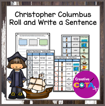 Christopher Columbus Roll and Write a Sentence