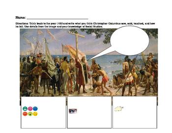 Christopher Columbus Sensory Figure ESL
