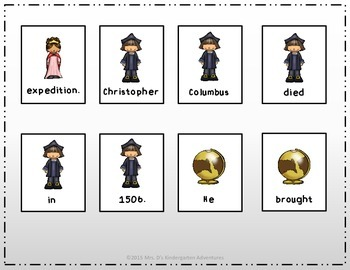 Christopher Columbus Sentence Scramble - 10 Facts about Christopher Columbus