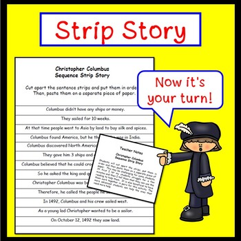 SMARTboard Christopher Columbus Sequencing Story and Worksheet