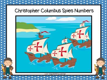 Christopher Columbus Spies Numbers:  NO PREP Number I Spy Game (1-30)