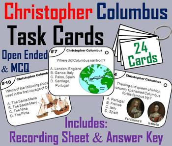 Christopher Columbus Day Task Cards/ Columbus Day Task Cards