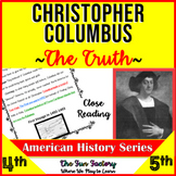 Christopher Columbus ~The Truth~ Grades 3-5, Close Reading, Fact and Opinion