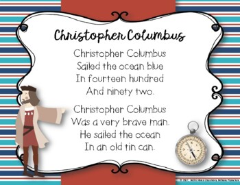 Christopher Columbus -Traditional Chant with Orff Arrangement (Rhythmic/Melodic)