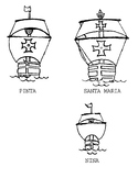Christopher Columbus Unit - Drawings of the Nina, Pinta, a