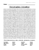 Christopher Columbus Unit - Word Search Puzzle
