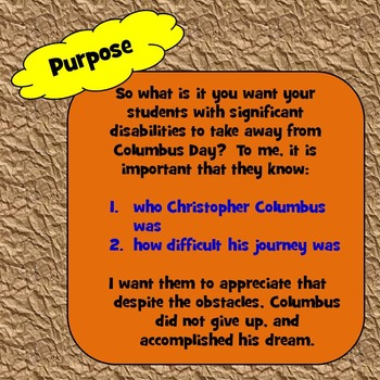 Christopher Columbus Unit for Special Education