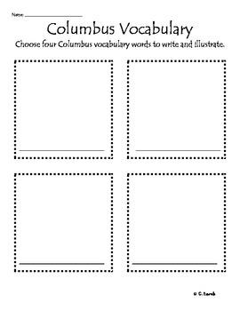 Christopher Columbus Vocabulary Activity