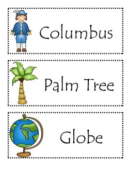 Christopher Columbus Vocabulary Activity