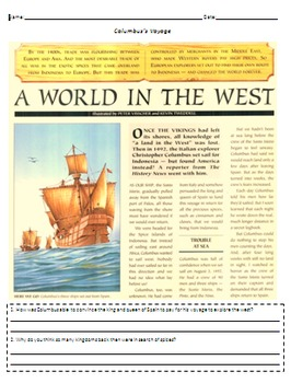 Christopher Columbus' Voyage to the New World - Explorers