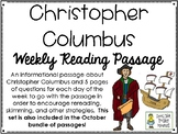 Christopher Columbus - Weekly Reading Passage and Questions