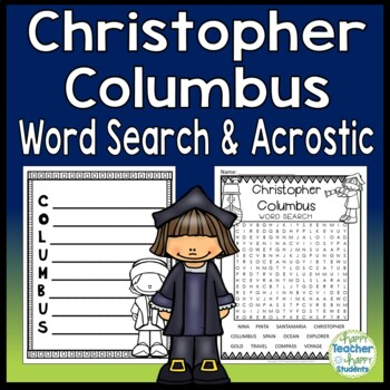 Christopher Columbus Word Search Activity: Columbus Day Word Search