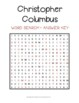 Christopher Columbus Word Search Activity: Columbus Day Wo