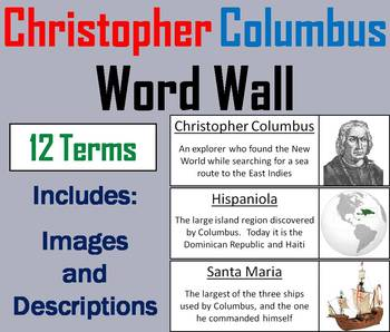 Christopher Columbus Word Wall Cards