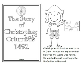 Christopher Columbus Worksheets and Book by Anne Hofmann 1st Grade