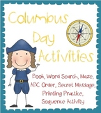 Christopher Columbus Worksheets and Book